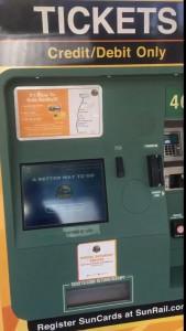 Máquina para compra de bilhetes.