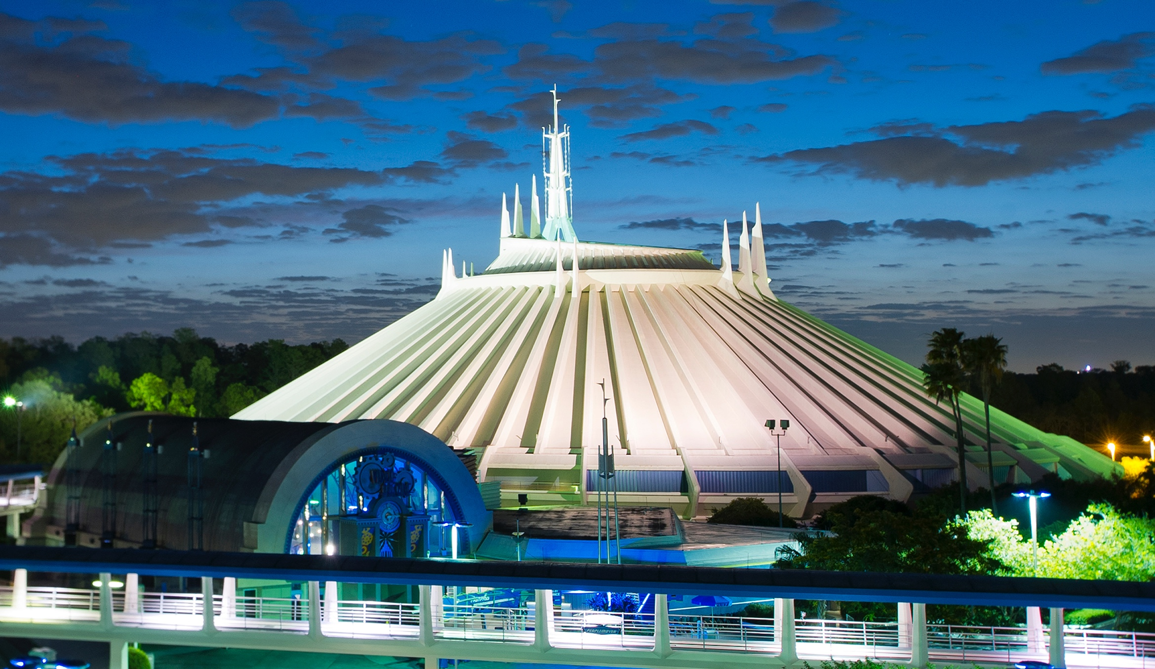 "Explorers visiting Space Mountain during Mickey's-So-Scary Halloween Party at Magic Kingdom Park in 2018 will hurtle through deep space as a new soundtrack and more transform the adventure. The family-friendly after-hours event offers trick-or-treating, meet and greets with favorite characters in costume, plus the must-see ""Mickey's Boo-to-You Halloween Parade"" and ""Happy HalloWishes"" fireworks display. Mickey's Not-So-Scary Halloween Party is a special ticket event and takes place on select nights each fall at Walt Disney World Resort in Lake Buena Vista, Fla. (Matt Stroshane, photographer)"