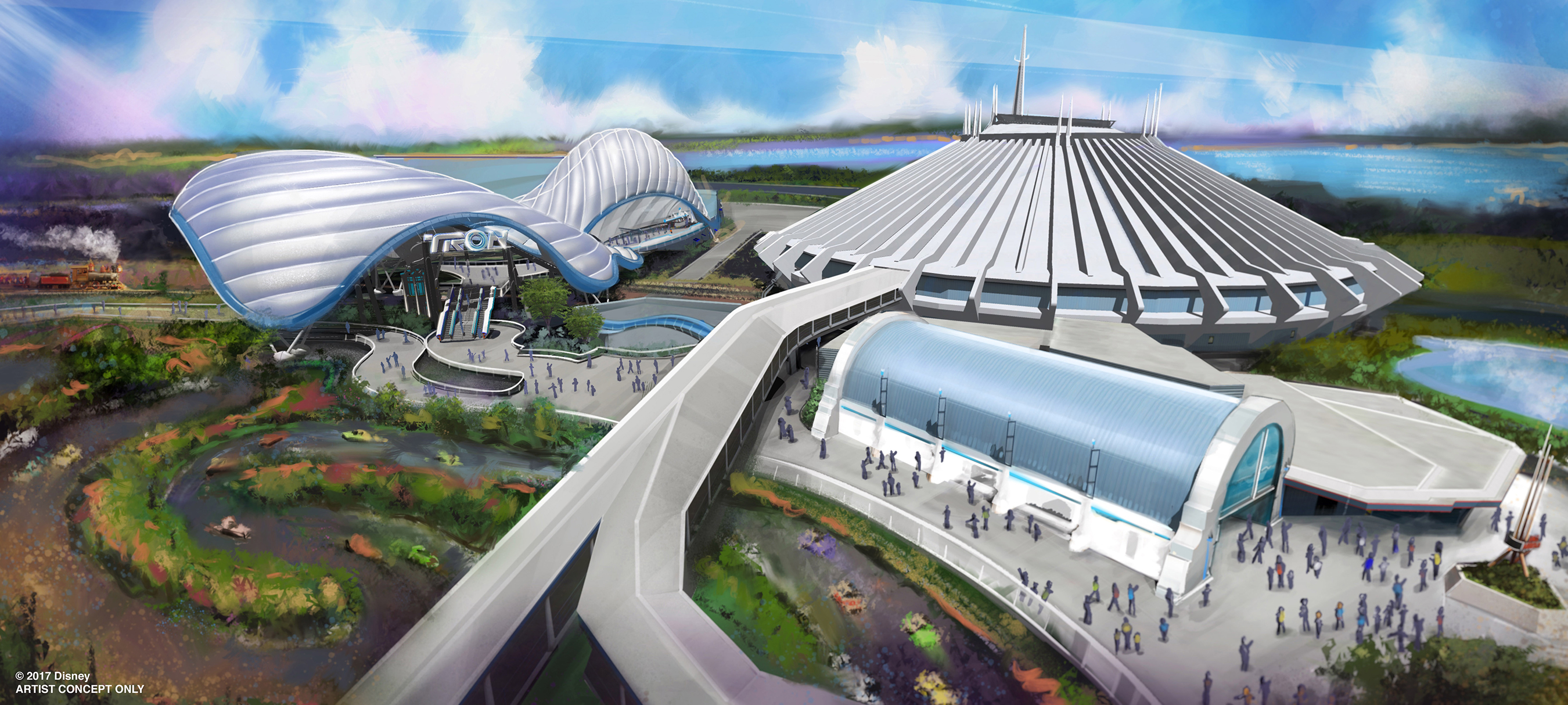 Walt Disney Parks & Resorts Chairman Bob Chapek announced during D23 Expo that the most popular attraction at Shanghai Disneyland is coming to Walt Disney World Resort. A thrilling, Tron-themed attraction will be added in a new area near Space Mountain at Magic Kingdom Park.